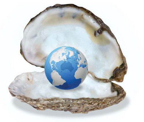 They say the world's my oyster. That smells a bit fishy to me.