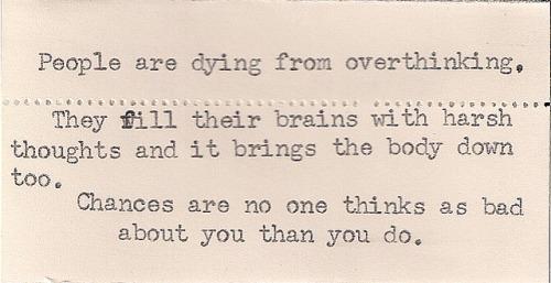 overtinking